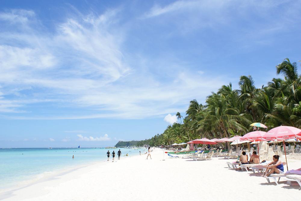 Kelionė į Filipinus (egzotinės kelionės) Beach wallpaper - Boracay island