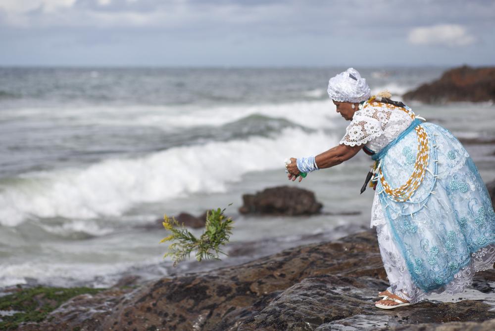 Kelionė į Braziliją (egzotinės kelionės) Brazil - Religion - Feast of Yemanja important annual Candomble event