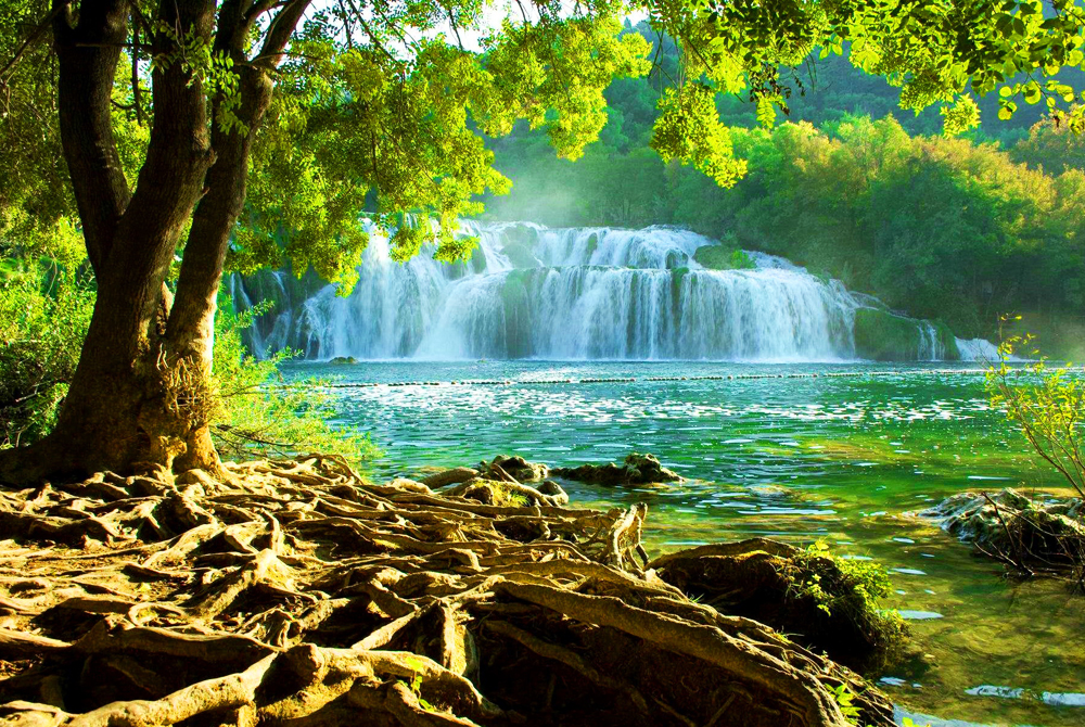 National Park Krka-croatia Wide Desktop Background