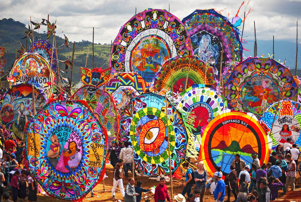 Giant Kite Festival in Sumpango, Guatemala